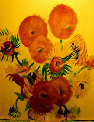 Sun Flowers Copy Poster