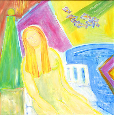 Poster featuring the painting Sun Goddess by Barbara Anna Knauf