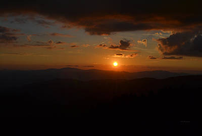 Sun Going Down Over The Great Smoky Mountains Poster