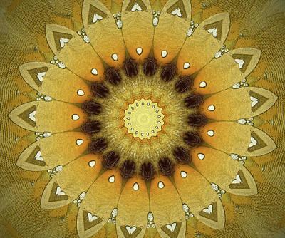 Sun Kaleidoscope Poster by Wim Lanclus