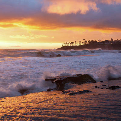 Poster featuring the photograph Sun Kissed Coast by Cliff Wassmann