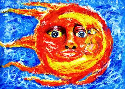 Poster featuring the painting Sun Moon by Shelley Bain