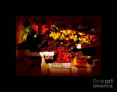 Sun On Fruit - Markets And Street Vendors Of New York City Poster by Miriam Danar