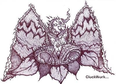 Sun Phoenix Flower Of Flame Poster by ClockWork Rockawn