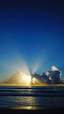 Sun Ray Sunrise Poster