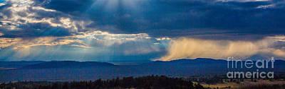Sun Rays And Rain Poster
