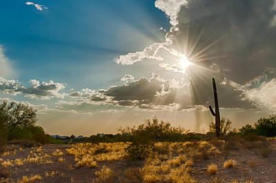 Poster featuring the photograph Sun Rays In Tucson by Dan McManus