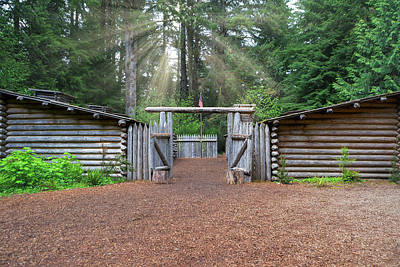 Sun Rays Over Fort Clatsop Poster
