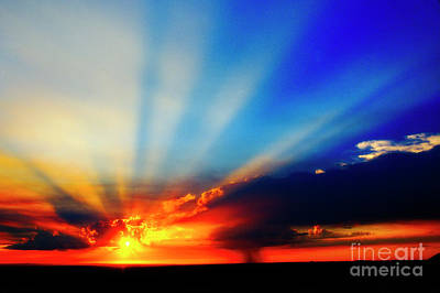 Poster featuring the photograph Sun Rays by Scott Kemper