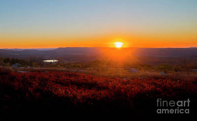 Sun Setting Over Canaan Valley Poster
