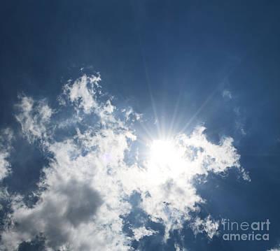 Sun Through The Clouds Poster by Reva Steenbergen