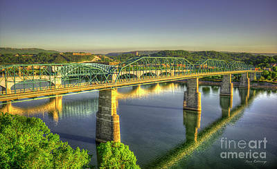 Sun Up Reflections 2 Chattanooga Tennessee Art Poster by Reid Callaway