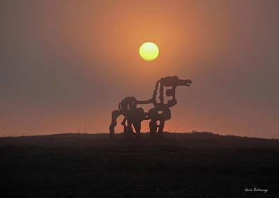 Sun Up The Iron Horse Art Poster by Reid Callaway