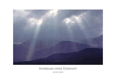 Poster featuring the digital art Sunbeams Over Derwent by Julian Perry