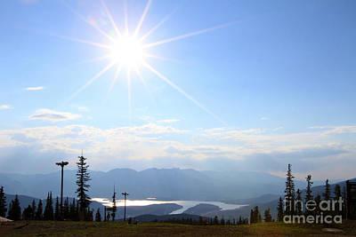 Sunburst Over Lake Dillon Poster