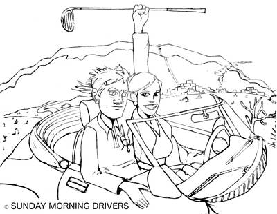 Sunday Morning Drivers Poster