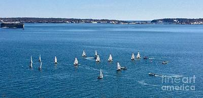 Sunday Sailing School On Casco Bay Poster