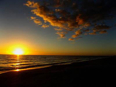 Sunday Sunset Redington Beach Poster