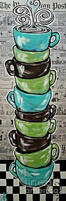 Sundays Cup A Joe Dark Roast Poster by Jackie Carpenter