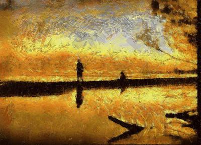 Sundown Profiles Poster by Mario Carini