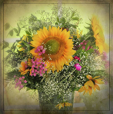 Poster featuring the photograph Sunflower Bouquet by Expressive Landscapes Fine Art Photography by Thom