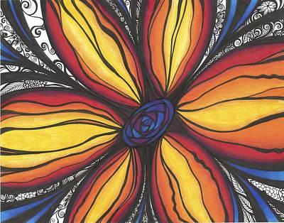 Sunflower Burst Poster