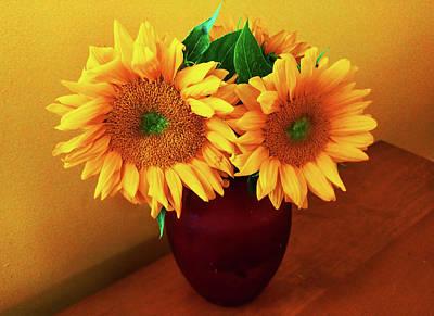 Sunflower Corner Poster