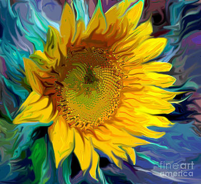 Sunflower For Van Gogh Poster