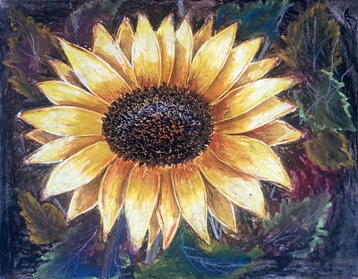 Sunflower Poster by MadhuRavi Paintings