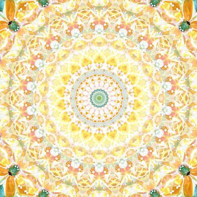 Sunflower Mandala- Abstract Art By Linda Woods Poster