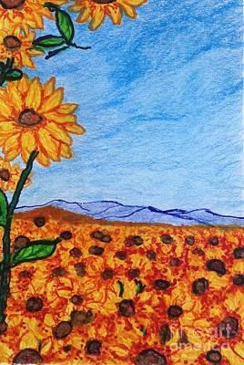 Sunflower Power Poster by Ishy Christine Degyansky