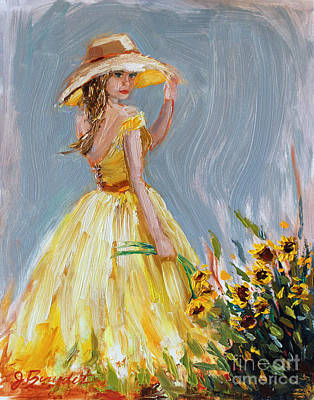 Poster featuring the painting Sunflower Seduction by Jennifer Beaudet