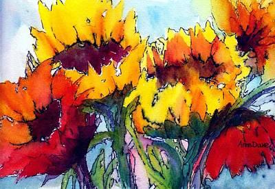 Sunflower Serenade Poster by Anne Duke