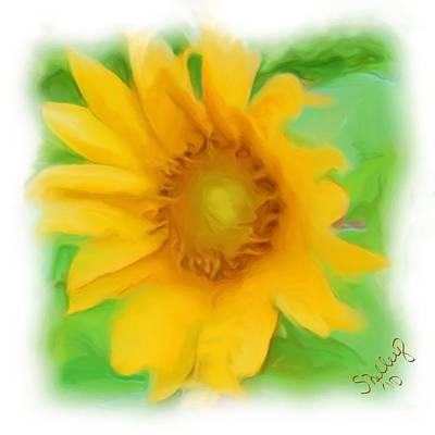 Poster featuring the painting Sunflower by Shelley Bain
