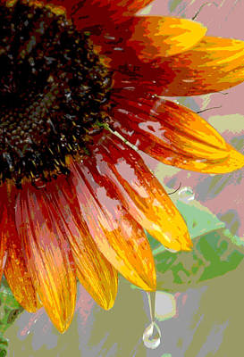 Poster featuring the photograph Sunflower Shower by Lori Mellen-Pagliaro