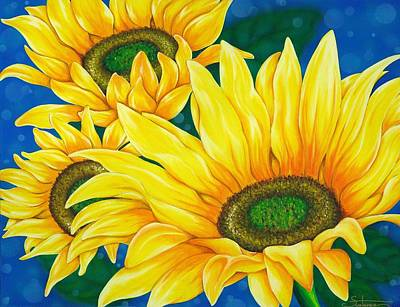 Sunflower Poster by Suntaree Nujai