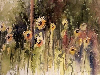 Sunflower Surprise Poster by Sandra Strohschein