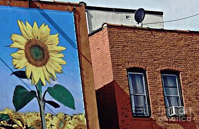 Sunflower Town Poster by Sarah Loft