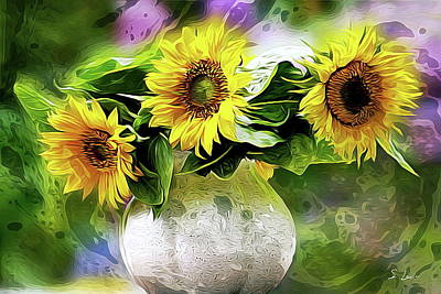 Sunflowers 13...26.16 Yellow Symbolised Happiness Poster