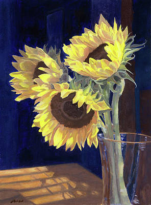 Sunflowers And Light Poster