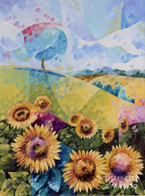Sunflowers Poster by Beatrice BEDEUR