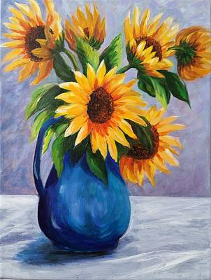 Sunflowers In Bloom Poster