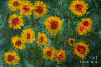 Sunflowers Poster by Lynne Reichhart