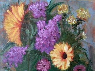 Sunflowers Poster by Sharon Schultz