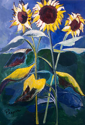 Sunflowers Standing Tall Poster by Betty Pieper