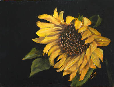 Poster featuring the painting Sunflowervi by Sandra Nardone