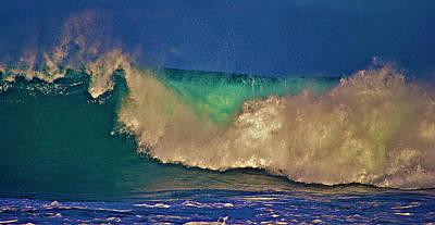 Sunlight On Breaking Wave Poster