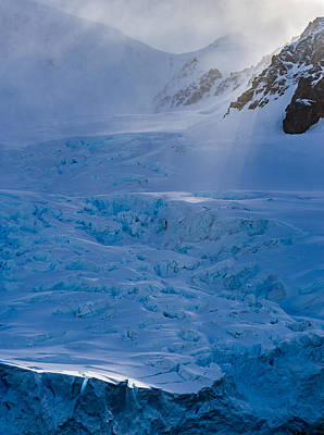 Sunlight On Ice - Antarctica Photograph Poster by Duane Miller