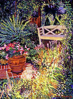 Sunlit Garden Patio Poster