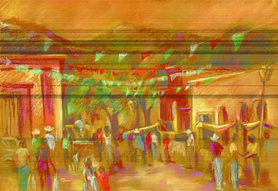 Sunlit Market Poster